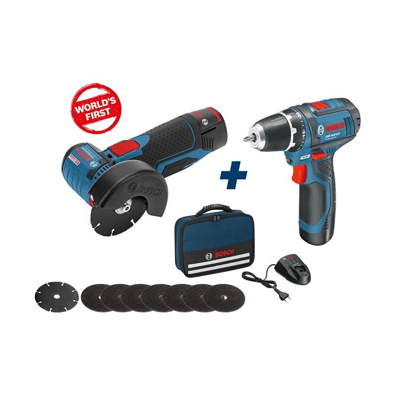 bosch battery angle grinder gws 10 8 76 v ec gsr 10 8 2. Black Bedroom Furniture Sets. Home Design Ideas