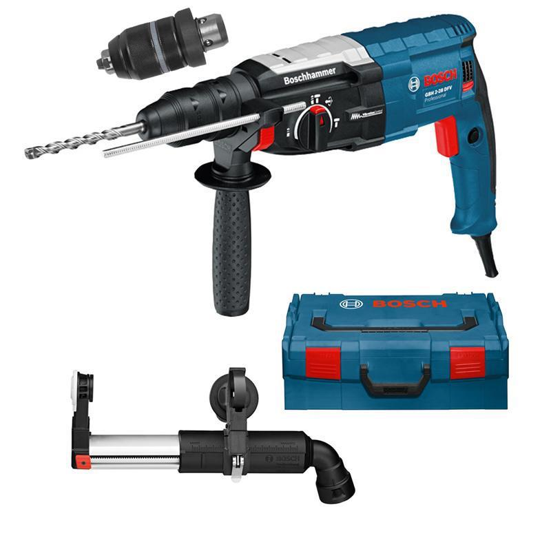 bosch bohrhammer gbh 2 28 dfv l boxx absaugadapter gde 16 plus ebay. Black Bedroom Furniture Sets. Home Design Ideas