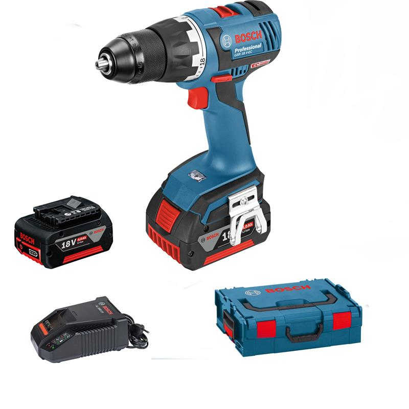 bosch cordless drill gsr 18 v ec 2 x 4 0 ah charger l boxx. Black Bedroom Furniture Sets. Home Design Ideas