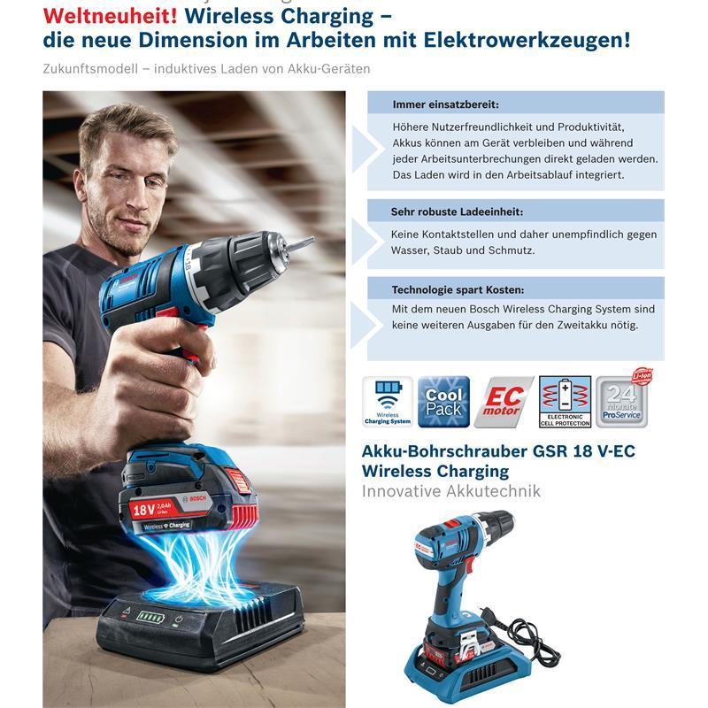 bosch akku bohrschrauber gsr 18 v ec inkl 2 akkus 2 0 ah wireless charging syst ebay. Black Bedroom Furniture Sets. Home Design Ideas