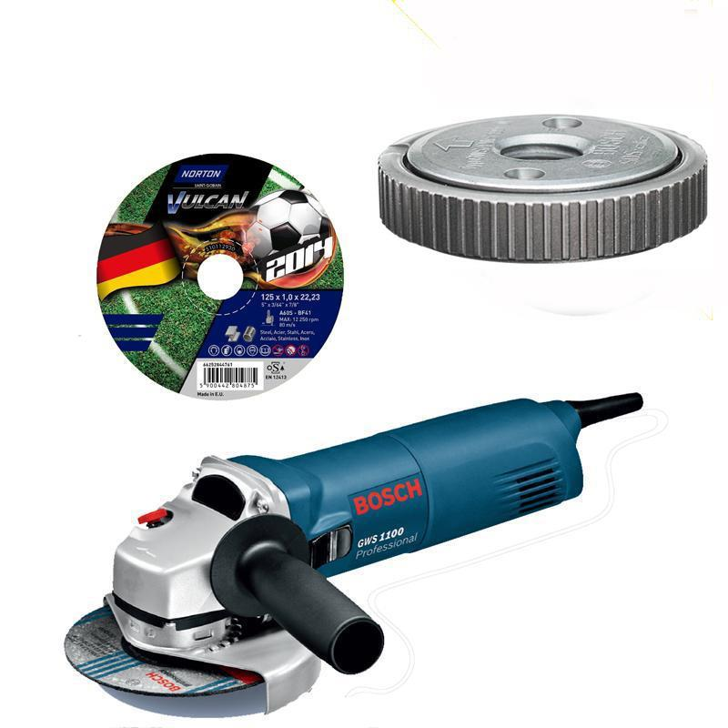 bosch angle grinder gws 1100 sds clic nut 25 cut off wheel ebay. Black Bedroom Furniture Sets. Home Design Ideas