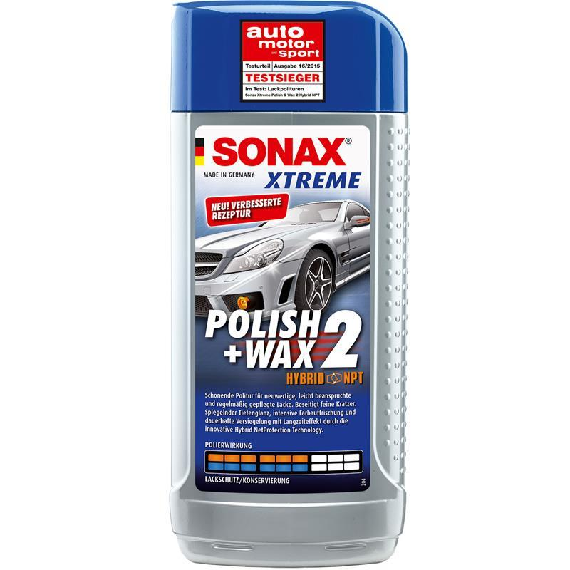 sonax xtreme polish wax 2 500ml 65 jahre inkl gratis schwamm und mikrofasertuch ebay. Black Bedroom Furniture Sets. Home Design Ideas