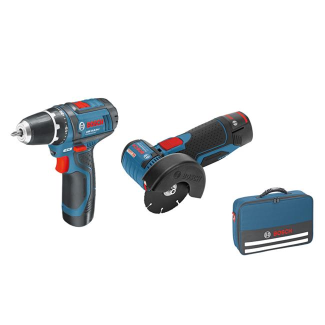 bosch cordless angle grinder gws 10 8 76 v ec gsr 10 8 2 li 2x2 5 ah battery ebay. Black Bedroom Furniture Sets. Home Design Ideas