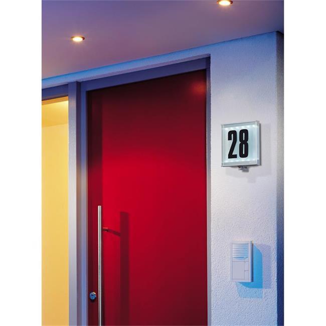 steinel bewegungsmelder is led mit beleuchteter hausnummer. Black Bedroom Furniture Sets. Home Design Ideas