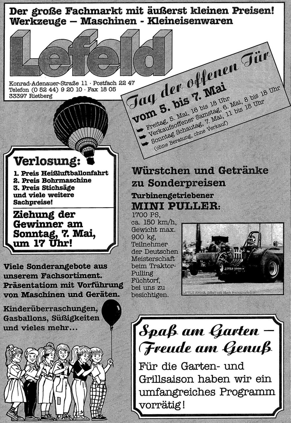 2001 Jubiläum 40 Jahre Tag der offenen Tür