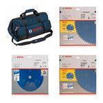Bosch 3-tlg. Kreissägeblatt-Set+Tasche 216 mm
