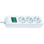 Brennenstuhl Eco-Line Steckdosenleiste mit Schalter 3-fach weiß 5m 1152920