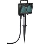 Brennenstuhl Gartensteckdose mit Erdspieß IP44