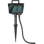 Brennenstuhl Gartensteckdose 4-fach mit Erdspieß IP44 1,4 m Kabel Außensteckdose