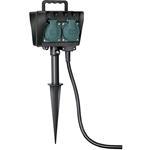 Brennenstuhl Gartensteckdose 4-fach mit Erdspieß IP44 10 m Kabel Außensteckdose