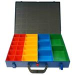Sortimentskoffer 440X330X66mm+ 23 PVC-Einsatzboxen