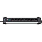 Brennenstuhl Premium-Alu-Line Steckdosenleiste 8fach 3m H05VV-F 3G1,5 1391000018