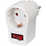 Brennenstuhl Adapterstecker Schutzkontakt mit Schalter 1508070