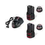 Bosch Starter Set 2 x 10,8 Volt 2,5 AH + AL 1130CV