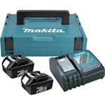 Makita Power Source-Kit Akku-Set 2 x 18,0 Volt 3,0 AH BL1830 + DC18RC + Makpac