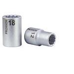 """Proxxon Vielzahn-Steckschlüsseleinsatz 1/2"""" 9 mm"""