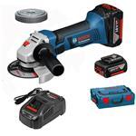 Bosch Akku-Winkelschleifer GWS 18-125 V-Li 2 Akkus 6,0 Ah, SDS-Clic Mutter