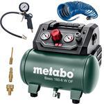 Metabo Kompressor Basic 160-6 W OF ölfrei Druckluft kompakt 6L 8 bar + Zubehör