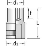 Gedore Einsatz Außen Torx TX20E-6, 6187720