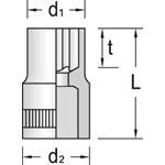 Gedore Einsatz Außen Torx TX20E-10, 6193960