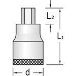 Gedore Einsatz Innensechskant IN30-5, 6241280