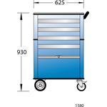 Gedore Werkzeugwagen 1580, 6627550