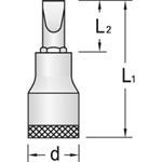 Gedore Stecknuss IS19-18x2,5, 6656570