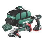 Metabo Akku-Combo Set BS 18 LT+ W 18 LTX 125 Quick