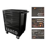 Bahco Werkstattwagen E72 inkl. 214-tlg Werkzeugset