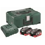 Metabo Basis-Set 2 x LiHD 8,0 Ah+ASC Ultra+Metaloc