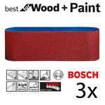 Bosch Schleifband Best for Wood / Paint / X440 75x533mm K150 2608606073 3er-Pack