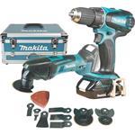 Makita Akku-Set 18 V DLX2031YX1 bestehend aus DDF456RHE + DTM50Z