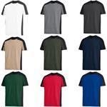 FHB T-Shirt MARC 90690 Arbeitsshirt zweifarbig Rundhalsausschnitt 100% Baumwolle