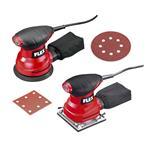 Flex Exzenterschleifer XS 713 125 mm + Schwingschleifer MS 713 + 50 Blatt Papier
