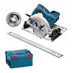 Bosch Handkreissäge GKS 65 GCE Set m. Multi Blatt