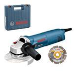 Bosch Winkelschleifer GWS 1400 125mm 1400 Watt mit Diamant-Sägeblatt + Koffer