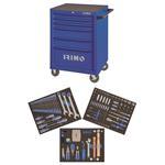 Irimo Werkstattwagen mit 206 tlg Werkzeug gefüllt Werkzeugwagen 6 Schubladen