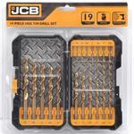 JCB HSS-TIN Bohrerset 19-teilig 1,0 bis 10,0 mm Metallbohrer Titan beschichtet