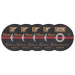 JCB INOX Trennscheiben für Stahl & Edelstahl 115 x 1,0 x 22,23 mm gerade 5 Stück