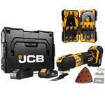 JCB Akku Multifunktionswerkzeug 18V inkl. 2x 2 Ah Akkus Ladegerät L-BOXX+Zubehör