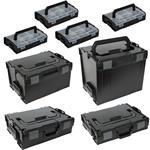 Sortimo Systemkoffer Set L-Boxx 102 + 136 + 274 + 374 + 4 x Mini L-Boxx schwarz