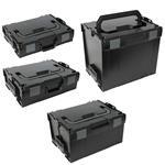 Sortimo Systemkoffer Set L-Boxx 102 + 136 + 238 + 374   schwarz Industrial Line