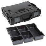 Sortimo Sortiments Kleinteile Koffer L-Boxx 102 schwarz mit 5 Fach Kleinteileinlage + Polster