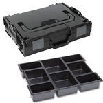 Sortimo Sortiments Kleinteile Koffer L-Boxx 102 schwarz mit 8 Fach Kleinteileinlage + Polster