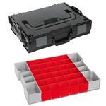 Sortimo Sortiments Kleinteile Koffer L-Boxx 102 schwarz mit Insetboxenset A3 + Deckelpolster