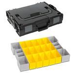 Sortimo Sortiments Kleinteile Koffer L-Boxx 102 schwarz mit Insetboxenset B3 + Deckelpolster