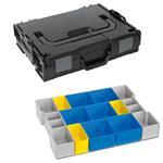 Sortimo Sortiments Kleinteile Koffer L-Boxx 102 schwarz mit Insetboxenset BC3 + Deckelpolster