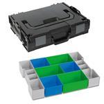 Sortimo Sortiments Kleinteile Koffer L-Boxx 102 schwarz mit Insetboxenset CD3 + Deckelpolster