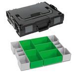 Sortimo Sortiments Kleinteile Koffer L-Boxx 102 schwarz mit Insetboxenset D3 + Deckelpolster
