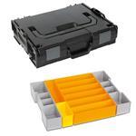 Sortimo Sortiments Kleinteile Koffer L-Boxx 102 schwarz mit Insetboxenset F3 + Deckelpolster